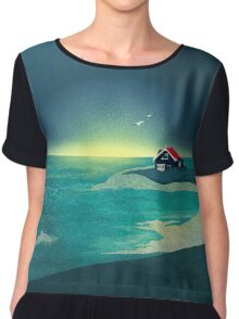 House by the Sea Chiffon Top