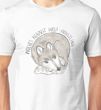 wolves against wolf whistling Unisex T-Shirt