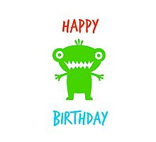 HAPPY BIRTHDAY CARD #3 (green monster) Photographic Print