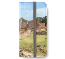 Temple Ruins in Old Ayutthaya iPhone Wallet/Case/Skin
