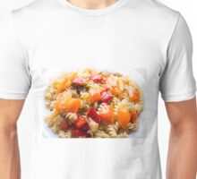 Italian pasta fusilli with vegetable ragout of peppers  Unisex T-Shirt