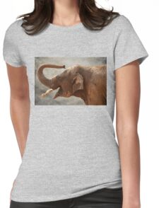 Baby Elephant Womens Fitted T-Shirt