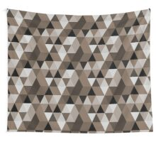 Sepia triangles pattern Wall Tapestry
