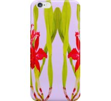 """""""ORCHIDS CONJOINED TWINS"""" Whimsical Art Print iPhone Case/Skin"""