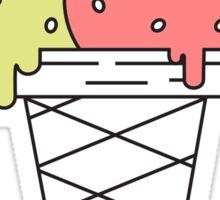 Ice cream flat design Sticker