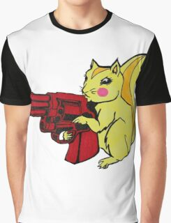 Gun Nut Squirrel Graphic T-Shirt