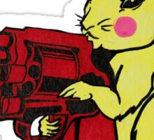 Gun Nut Squirrel Sticker