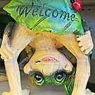 Frogly Greeting by Monnie Ryan