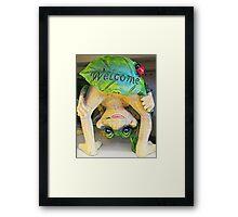 Frogly Greeting Framed Print