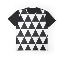 Black & white triangles pattern Graphic T-Shirt