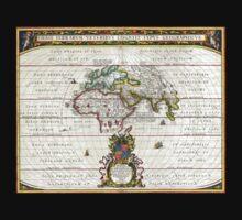 Jansson Map of the Ancient World - OrbisTerrarum Kids Tee