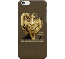 John Denver ~ [Brown Skin] iPhone Case/Skin