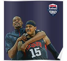 Usa Basketball Team Poster