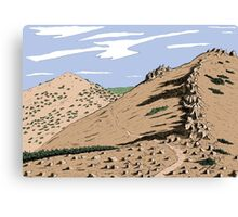 Jobs Sister and Unnamed Peak Canvas Print