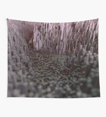 Industrial Landscape Wall Tapestry