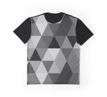 Grey scale triangle pattern Graphic T-Shirt