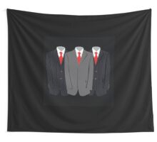 Mens Suits (black) Wall Tapestry