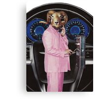 Pink Suited Ram Canvas Print