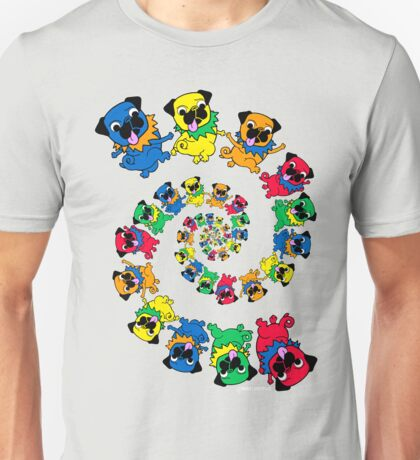 Grateful Pugs Dancing Pugs Unisex T-Shirt