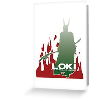 Loki God of Fire and Mischief Greeting Card