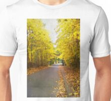 Autumn road in watercolor Unisex T-Shirt