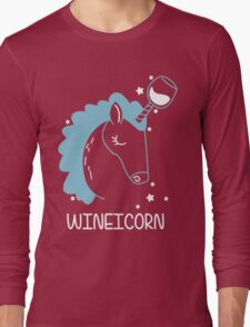 Wineicorn, funy, cool t-shirts Long Sleeve T-Shirt