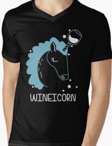 Wineicorn, funy, cool t-shirts Mens V-Neck T-Shirt