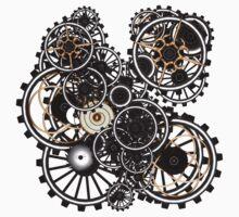 Steampunk Gears on your Gear No.2 Kids Tee