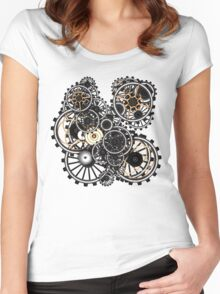 Steampunk Gears on your Gear No.2 Women's Fitted Scoop T-Shirt