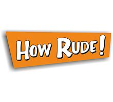 how rude! Photographic Print