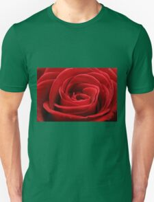 Close up of a beautiful red rose Unisex T-Shirt