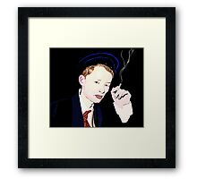 Thom Yorke smoking a cigarette Framed Print