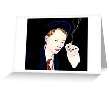 Thom Yorke smoking a cigarette Greeting Card