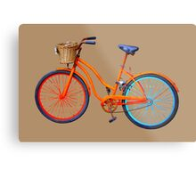 Old icelandic bicycle on iced coffee background Metal Print