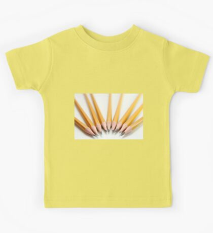 Cutout of sharp pencils  on white background Kids Tee