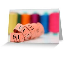 Sewing kit thread and measuring tape  Greeting Card