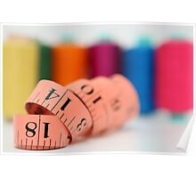 Sewing kit thread and measuring tape  Poster