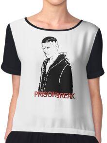 -SERIES- Prison Break Scofield Stencil Chiffon Top