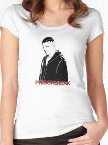 -SERIES- Prison Break Scofield Stencil Women's Fitted Scoop T-Shirt