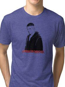 -SERIES- Prison Break Scofield Stencil Tri-blend T-Shirt
