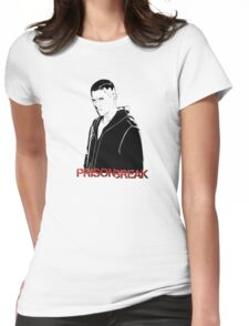 -SERIES- Prison Break Scofield Stencil Womens Fitted T-Shirt