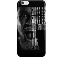 'SURPRISE, SURPRISE MOTHERFUCKER. THE KING IS BACK' Conor McGregor iPhone Case/Skin