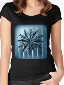 Snow Flake Women's Fitted Scoop T-Shirt