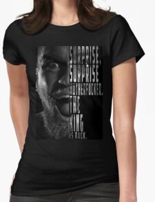 'SURPRISE, SURPRISE MOTHERFUCKER. THE KING IS BACK' Conor McGregor Womens Fitted T-Shirt