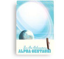 For an Adventure Retro Ski Sci-fi poster Canvas Print