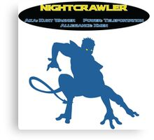 NightCrawler Info Sheet Canvas Print