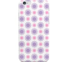 Pink and purple floral illustration iPhone Case/Skin