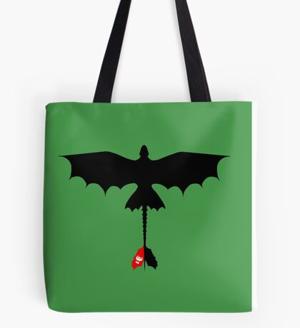 Toothless Silhouette Tote Bag