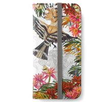 Drawing Paradise- Hoopoes, Elephants and Giraffes iPhone Wallet/Case/Skin
