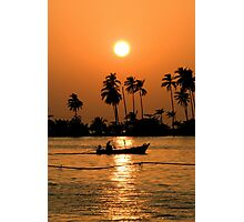 Fisherman Returns Home Photographic Print